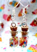 Small sweetie jar earrings by geurge