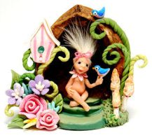ELF BABY FAIRY GARDEN HOUSE by WEE-OOAK-MINIATURES