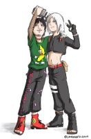 Oekaki: Sai and his Brother by lauraneato