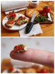 Caprese Bruschetta - Miniature by thinkpastel