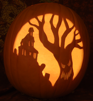 Haunted House/Spooky Tree Pumpkin Light Version by johwee