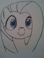 Speed Draw Touch-Up - Fluttershy by Cursive-Spill