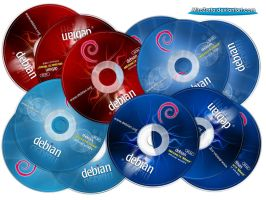 Debian Squeeze and Wheezy Labels CD-DVD by MiroZarta