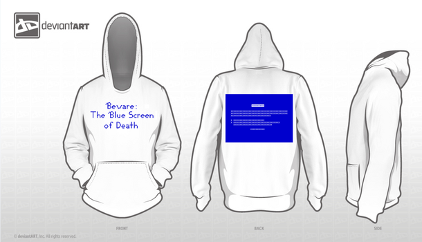 Hoodie Design - Blue Screen by Sarasteven330