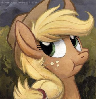 Square Series - Discorded Applejack by SpainFischer