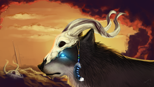 Spirit Wolf - Collaboration with Kathiawaris by Alexandoria