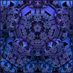 blue to purple by GLO-HE