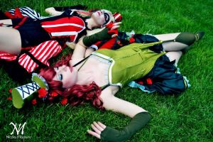 Poison ivy and Harley Quinn steampunk pt2 by nonsochenomedare