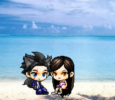 NightWolf and Anna's date at the beach by HurricaneThePegasus8