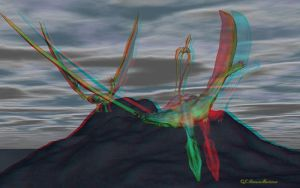 Anaglyph Quetzalcoatlus by passionofagoddess