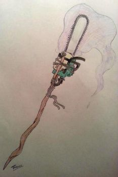 Chainsaw Staff of Spell Casting and Tree Felling by BURNiNATOR326