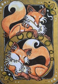 ACEO: Fox Fever by DanielleMWilliams