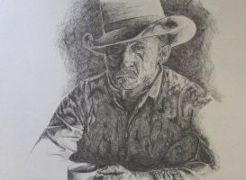 Old Man With Hat by tentsie