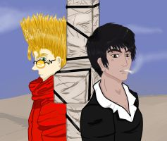 Vash and Wolfwood by chrissybob777