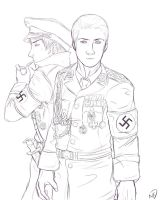 Line art Nazi Germany by one-who-draws