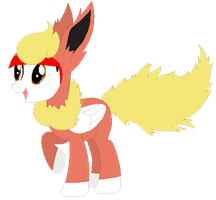 Ponymon: DreamCaster as Flareon by DreamCasterPegasus