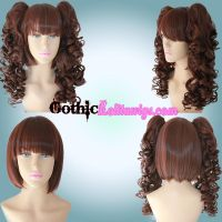 Curly Chocolate Brown by GothicLolitaWigs