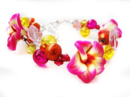 Bracelet - Multicolor garden by Benia1991