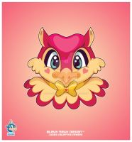 Kawaii Valentino Owl by KawaiiUniverseStudio