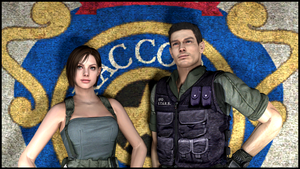 Jill Valentine and Chris Redfield (UPDATED) by Mister-Valentine