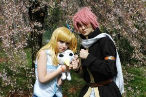 Natsu and Lucy Cosplay by DEATHNOTE---L