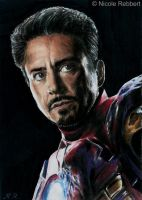 Iron Man sketch card by Quelchii
