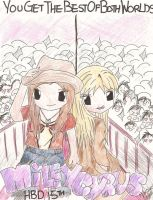 Miley Cyrus and Hannah Montana by DeviantArtist99