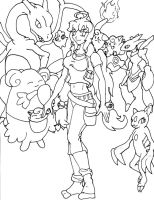 Pokemon Trainer Hana lines by Wing-Saber