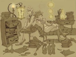 Scholar's Study by heartbroken-girl