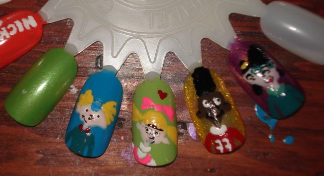 Hey Arnold nails : Attempt #2 by PSherman42WallabyWay