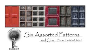 Twisted Mind Six Assorted Patterns Vol One by Textures-and-More
