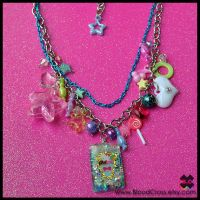 Chunky Charm Necklace by BloodCross