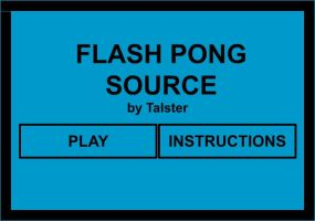 Flash Pong Source by talster