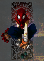 Spidy_overloaded by H1W0