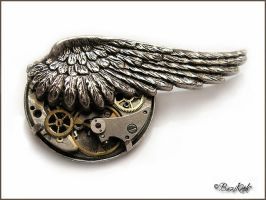 Steampunk Brooch by BaziKotek