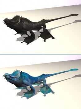 3D Lizard by weird-one