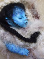 Na'vi Baby close up by Isisneferet