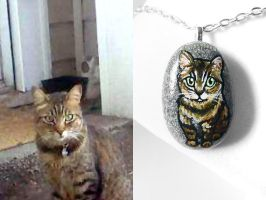 Walker - Custom Cat Pendant Necklace by sobeyondthis