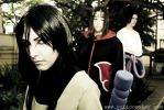 Orochimaru and Uchiha Brothers by Yukilefay