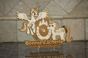 Bonnie Zacherle EFNW 2015 Plaque by Earth-Pony