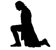 Loki Kneeling Silhouette by the-nature-author