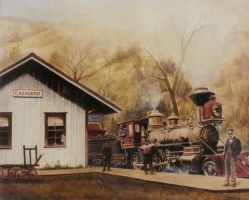 Cazadero Train Station by Paluso4art