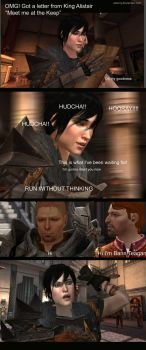 Dragon Age 2: Meet Alistair by alsiony