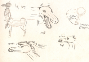 LPSpecie: Centakana sketches and points by LPS100