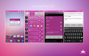 Celestial Pink ICS CM7 Theme by kingdonnaz