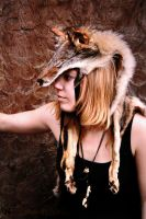 Another Coyote Headdress by NaturePunk