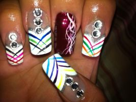 Multi-colored nail art by pierrettepaola