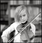 The kid and the violin by rain1man