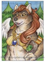 Golden Wing Wolf by lady-cybercat