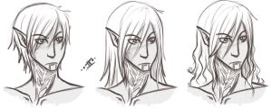 DA2- Fenris hairstyles....lol by IXinc